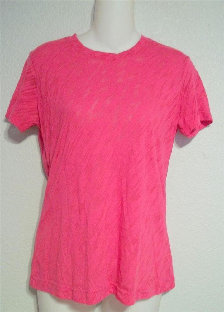 Reebok Junior Medium 7 9 Hot Pink Zebra Short Sleeve Opaque Long T-Shirt