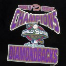 Arizona Diamondbacks Black 2001 World Series Souvenir T-Shirt Youth Small
