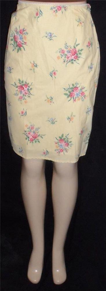 Lauren Ralph Lauren 8 Medium Yellow Flowered Lined 100% Cotton Pencil Skirt