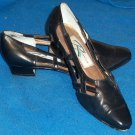 "Ros Hommerson 6-1/2 6.5 Medium B Black Kitten heel 1-1/4"" shoes Fine Leather"