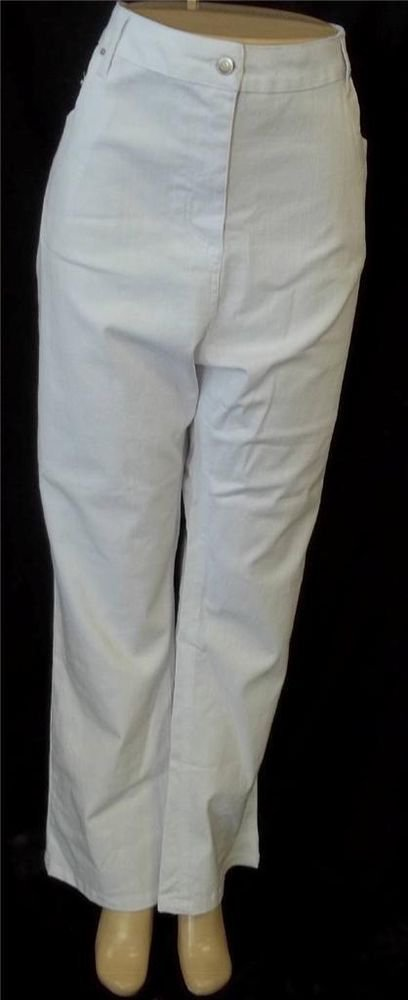 NEW Stacey Summers 20 2X 22 24 3X Pure White Textured 5-Pocket Straight Leg Jean