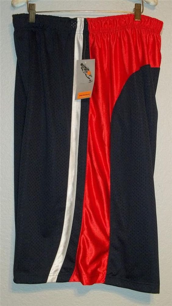 New 3X High Energy Basketball Athletic Men's Shorts Navy Blue Red White