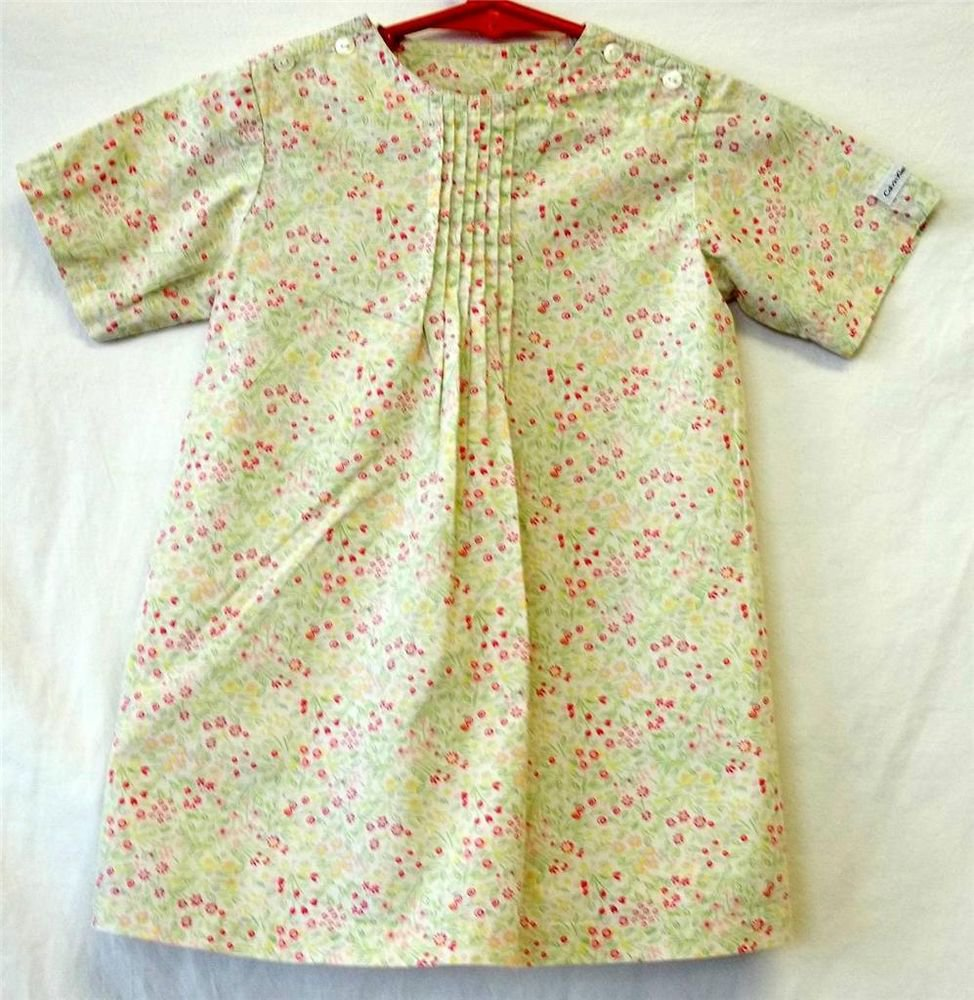 Calvin Klein Jeans 2T Toddler Light Green  A Line Old Fashioned Style SS Dress