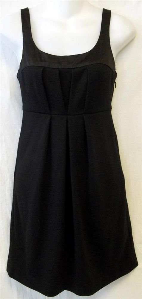 Old Navy XS Extra Small 0 2  Black Above Knee Empire Evening Little Black Dress