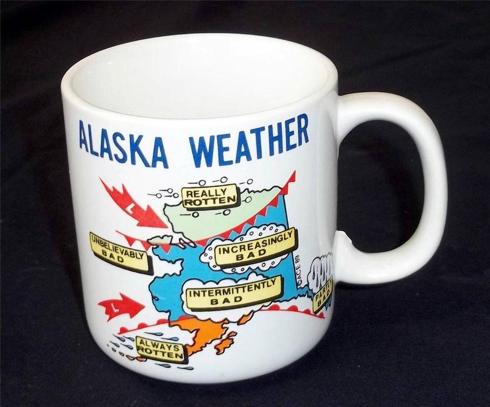 1989 Alaska Weather Graphic Collectible Coffee Cup Mug