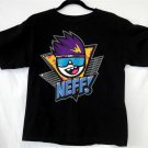 Youth XL Neff Black Blue Purple Yellow Gray White Pink 90's Pattern T Shirt
