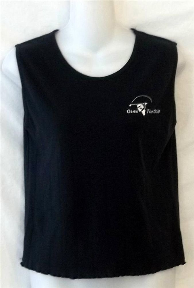 Girls that Golf Small 4 6 Black Sleeveless Casual Tank Top