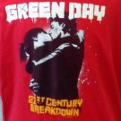 Green Day 2009 Tour 21st Century Breakdown Red SS T Shirt