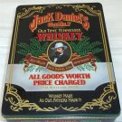 Jack Daniel's Old No. 7 Whiskey Gift Tin 4 color Black Background Gold Inside
