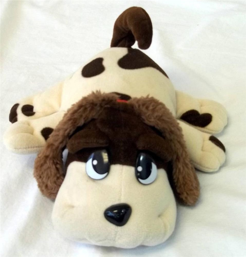 Pound Puppies Jakks Pacific Ivory Brown Spots Dalmatian Plush Voice Box