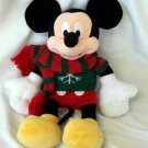 "Disney Mickey Mouse Christmas Sweater Scarf 19"" Plush 2009 Signature PWP"