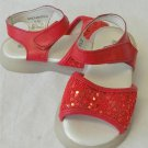 NEW Rachel Shoes 4 M Enchanted Bright Red Sparkly Leather Girls Baby Sandals