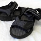 Body Glove Water Sandals Shoes Men's Sz 5 Gray Black Velcro Mesh Rubber Tread