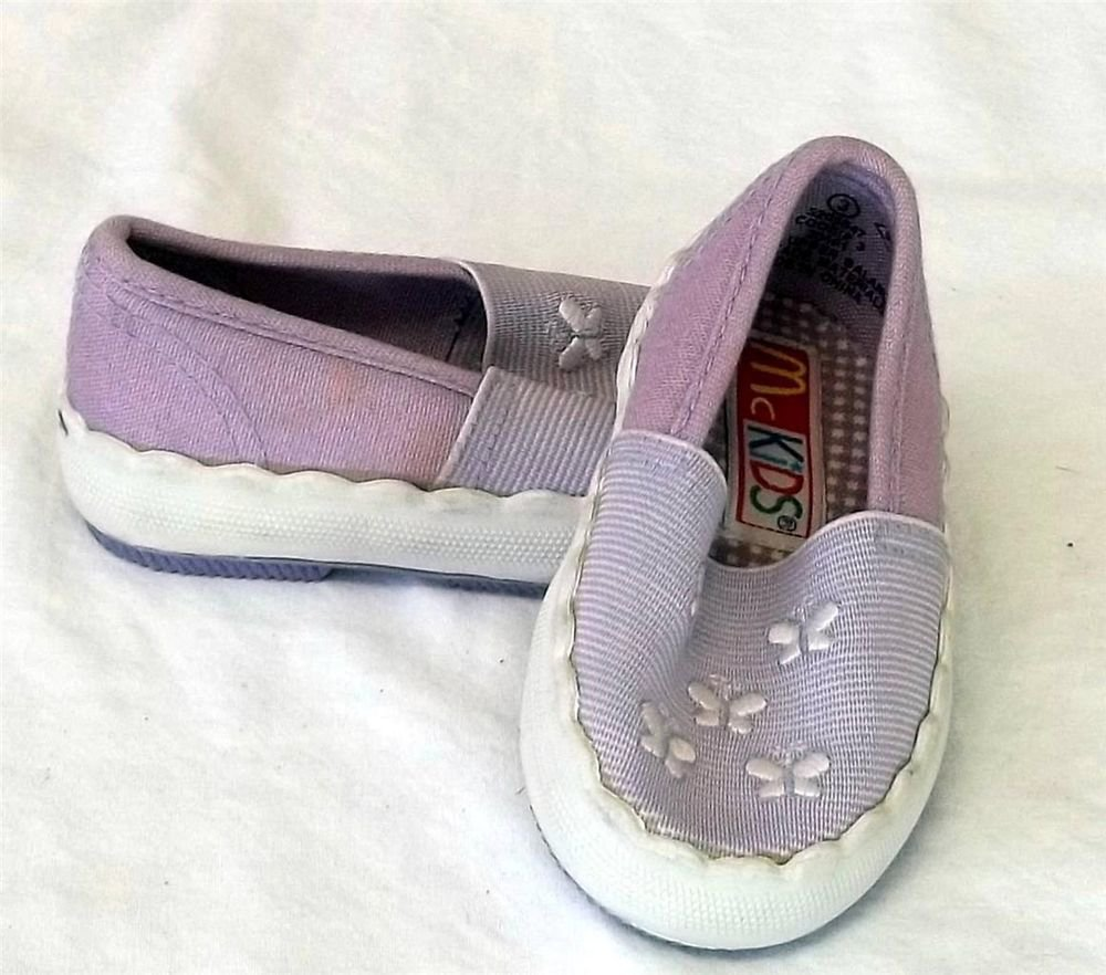 McKids Cookie 3 McDonald's Sz 3 Lavender White Butterfly Girls Baby Water Shoes