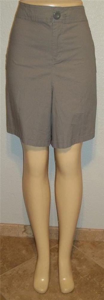 NEW Lane Bryant Plus 26  4X Light Gray Cotton Blend Walking Bermuda Golf Shorts