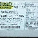 Sugar Free Licorice BEARS ( GUSTAFS)sugar free candy 6.6 lb cs 2.2 pound