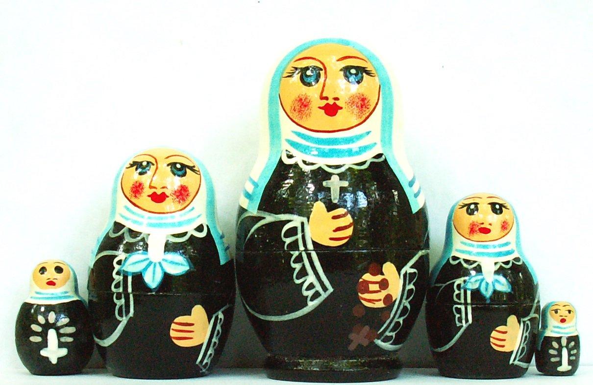 "Nuns Nesting Dolls 4"""