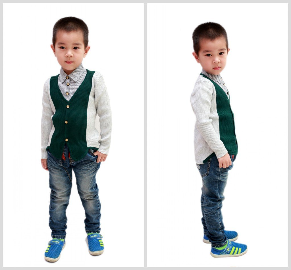 2014 new style children cotton knit shirts tops 3-6years YF46
