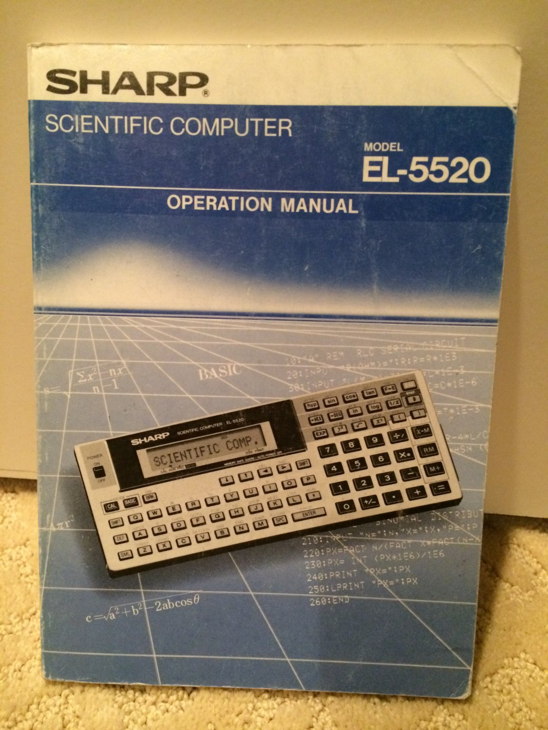 SOLD: VINTAGE Sharp EL-5520 Programmable Calculator Manual set, not EL-5500