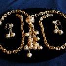 Long Napier Filigree Tassle Necklace and Dangle ERs