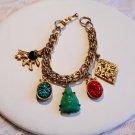 Coro Asian Inspired Charm Bracelet