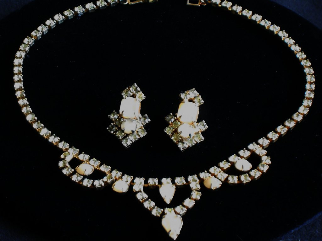 Faux Moonstone and Topaz Set