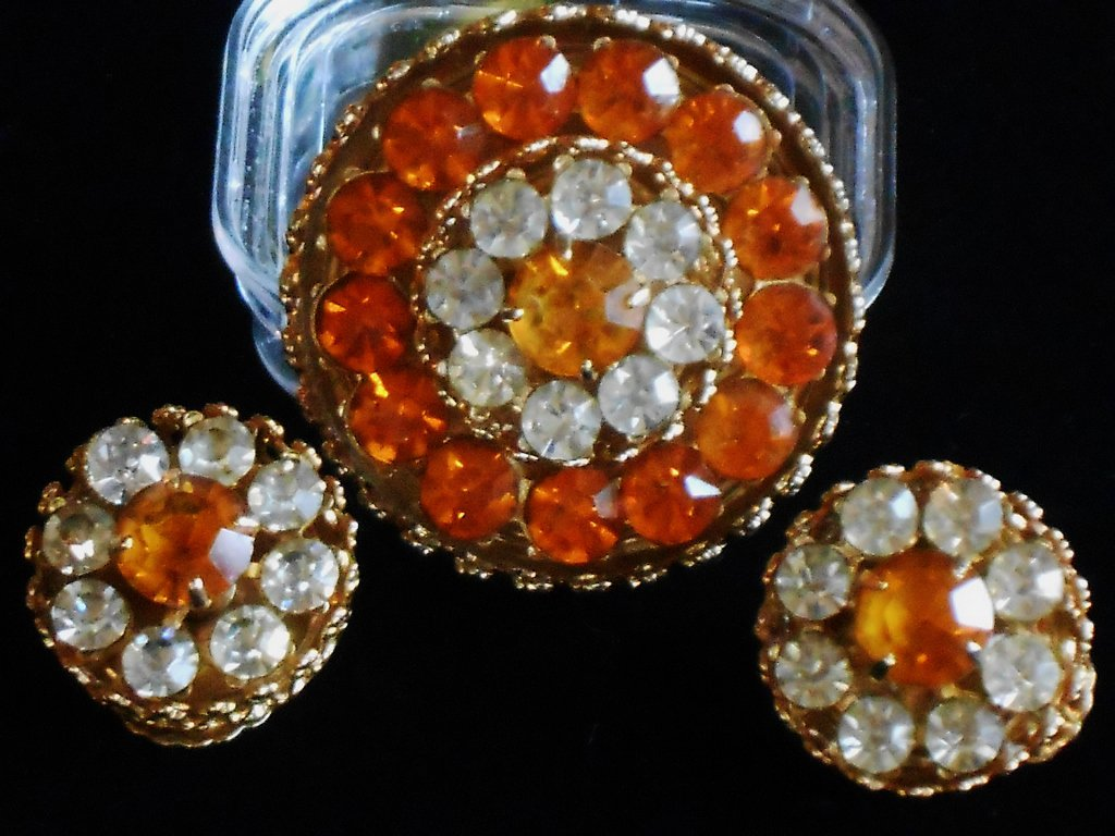 Coro Brooch and ER Set