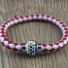 Sporty Red  & White Multi