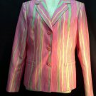 John meyer of Norwich size 6 pink stripe career blazer womens