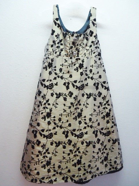 Marellata sz 8 girls dress Gold Black Wedding Holiday sleeveless