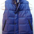 Old Navy 4 Navy Blue Puffer Vest Boys Pockets Inner Fleece Ski Fall Holiday