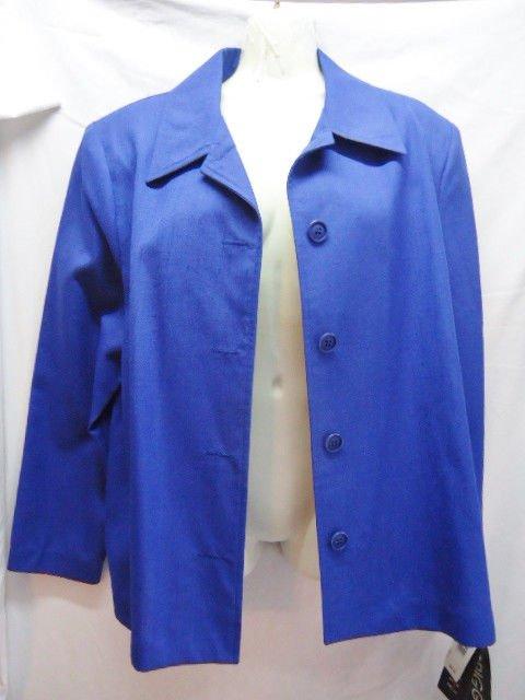 Briggs Large Royal blue New Blazer Jacket Polyester Rayon