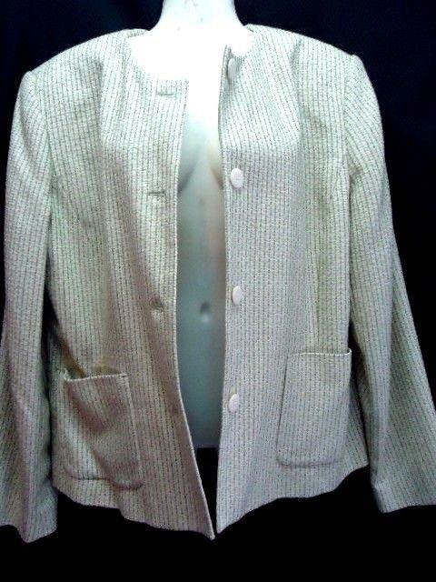 Emma James Blazer 14 Olive Green Jacket Career Acrylic Womens