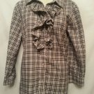 Lauren Ralph Lauren Shirt Large Black Plaid Ruffle