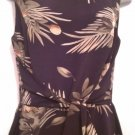 Maggy London size 8 brown floral sleeveless dress
