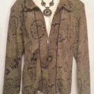 K & Company Size 18 Green Paisley Jacket