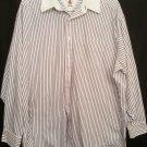 Tommy Hilfiger 100% cotton Blue white stripe ls 17-35