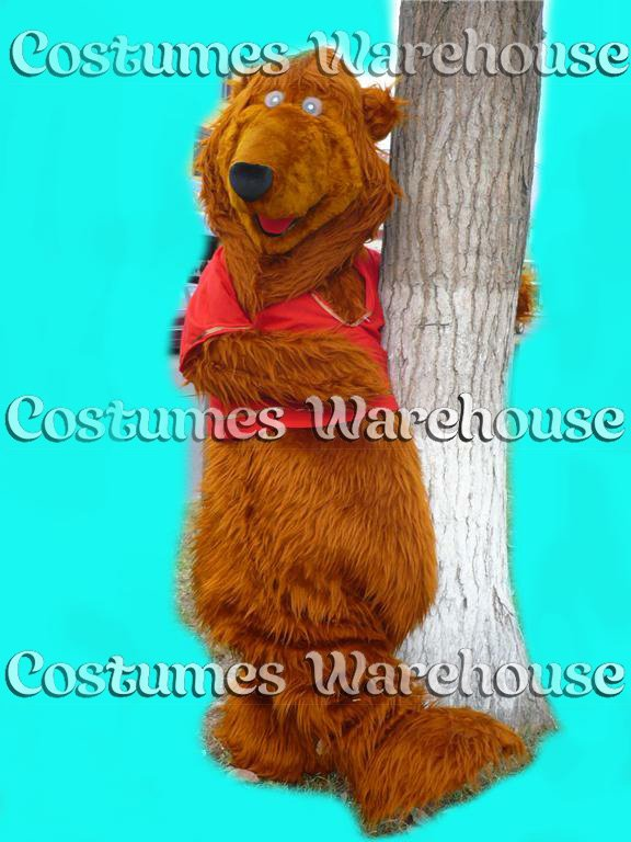 Bear the blue Costume Mascot