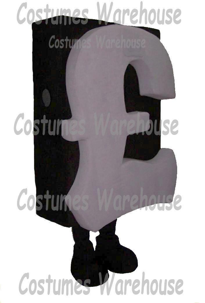 Pounds Currency Costume Mascot