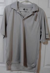 Mens Golf Polo Shirt IZOD Classic Cool FX Shirt Gray Size Medium Polyester