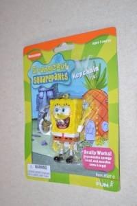 SpongeBob Squarepants Keychain with Backpack Clip New
