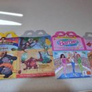 McDonalds Happy Meal Boxes Lot of 7 Barbie Jungle Book Animal Kingdom Hot Wheels