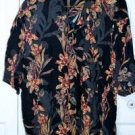 Natural Issue Black Floral Pattern Hawaiian Men's Shirt Size XL Summer Party