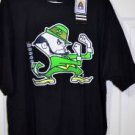 Notre Dame Adidas Fighting Irish T-Shirt Black New With Tags Size XXL 2X