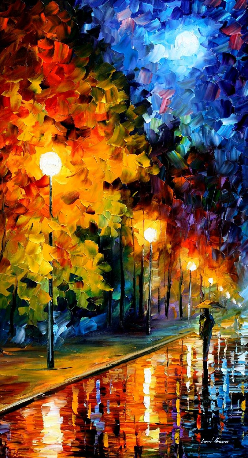 Blue Moon � PALETTE KNIFE Oil Painting On Canvas