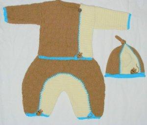 Beautyful hand made baby 3 piece set