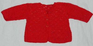 Red baby jacket