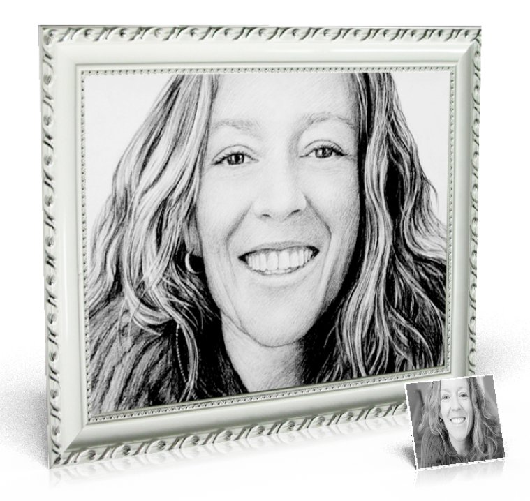 Charcoal Drawing 20x24 inch, 1 person included - Drawings created from photos