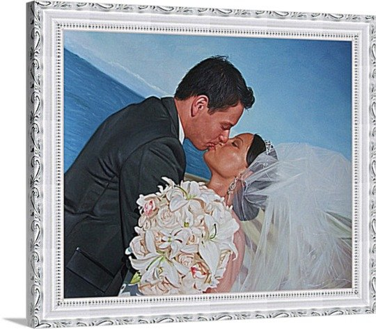 """Oil paintings from pictures, 2 people, 12""""x16"""", unframed - Painting from photo"""