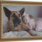 "Turn photo into oil painting, 1 Pet and 1 Person, 12""x16"", unframed - Picture into Oil Painting"